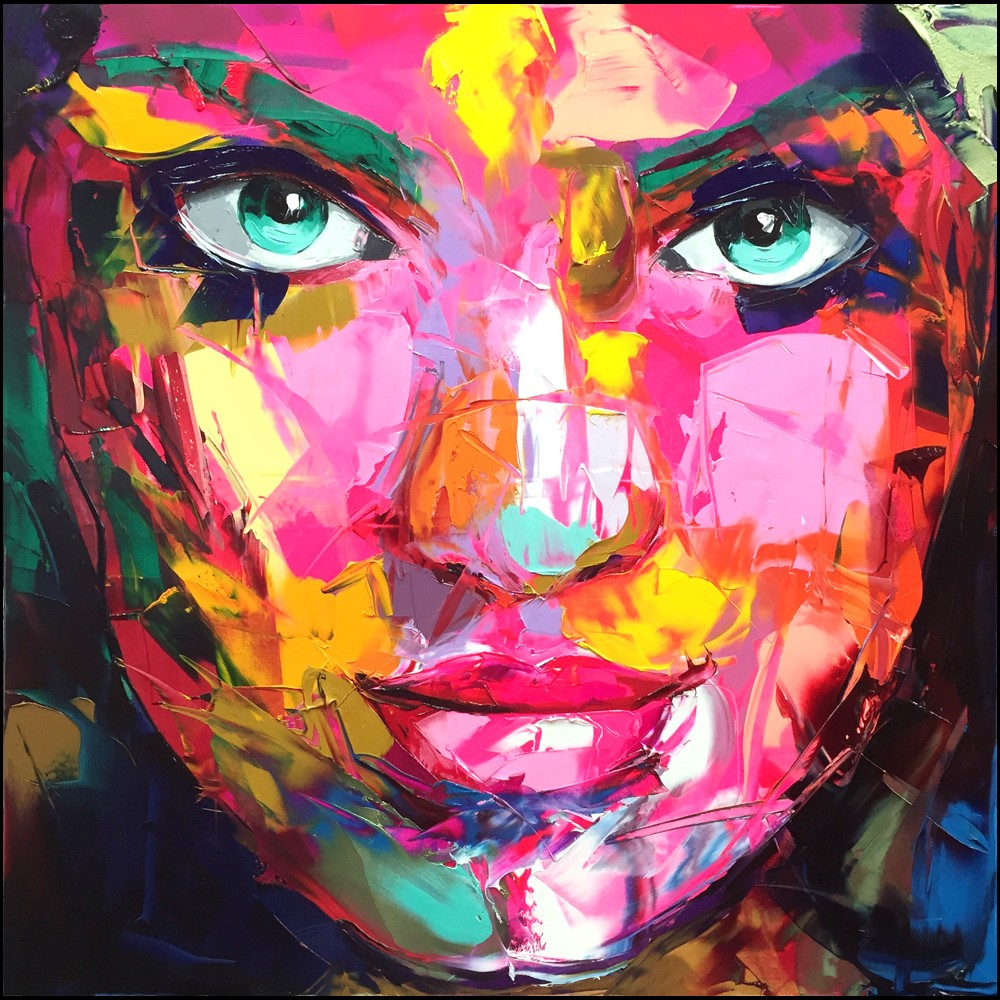 Francoise Nielly Portrait Palette Painting Expression Face177